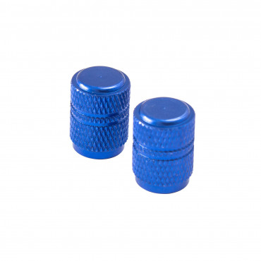 Bouchon de Valve Rond Bleu(la paire)