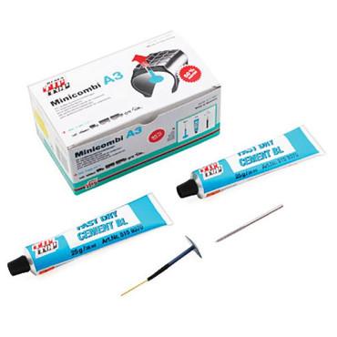 Tip Top - Kit Réparation Pneu Atelier - Champignon - 25 Minicombi A3 + 1 Fraise Ø3mm + 2 Tubes de Colle 25g