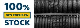 100% des pneus en stock